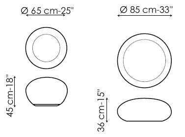 Diagrama de puff Hollywood de Bonaldo