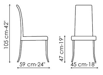 Diagrama de silla Ballerina de Bonaldo