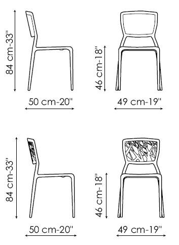 Diagrama de silla Viento de Bonaldo