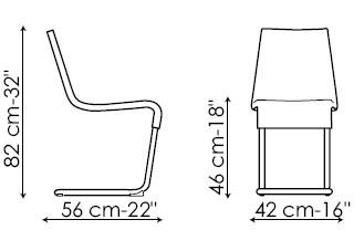 Diagrama de silla Skip de Bonaldo