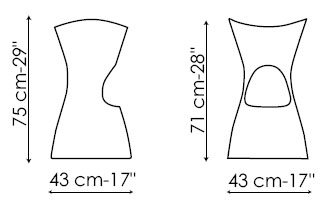Diagrama de taburete Skoop de Bonaldo