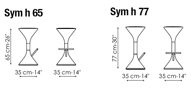 Diagrama de taburete Sym de Bonaldo