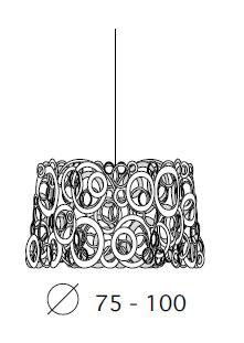 Medidas lámpara Idaa Bysteel