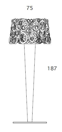 Medidas lámpara de pie Idaa Bysteel