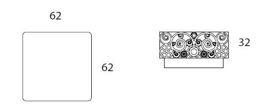 Medidas mesa de centro Lace BYSTEEL