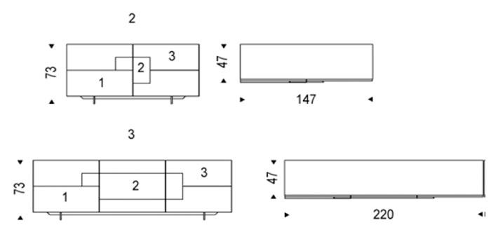 Diagrama aparador de diseño Torino de Cattelan Italia