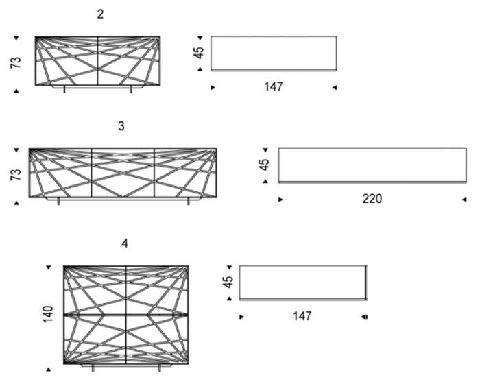 Diagrama aparador de diseño Webber de Cattelan Italia