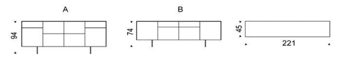 Diagrama aparador de diseño Continental de Cattelan Italia