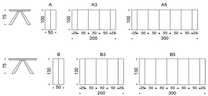 Diagrama consola mesa extensible Convivium de Cattelan Italia