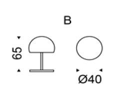 Diagrama lámpara de mesa Calimero de Cattelan Italia