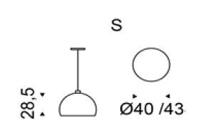 Diagrama lámpara de techo Calimero de Cattelan Italia