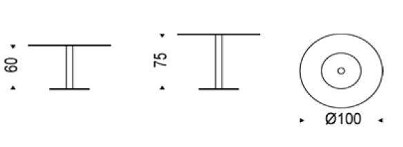 Diagrama mesa Henry de Cattelan Italia