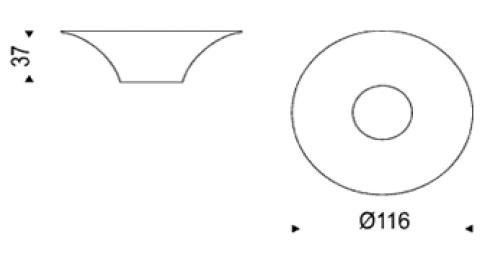 Diagrama mesa de centro Alien de Cattelan Italia