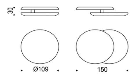Diagrama mesa de centro Yo-yo de Cattelan Italia