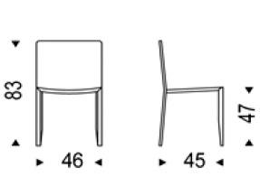 Diagrama silla de piel Amy de Cattelan Italia