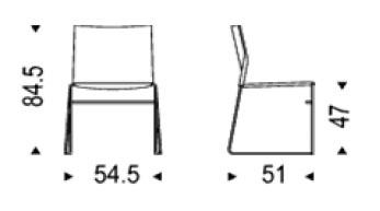Diagrama silla Easy de Cattelan Italia