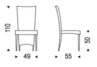 Diagrama silla Elenoire de Cattelan Italia