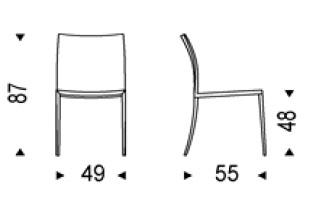 Diagrama silla Emma de Cattelan Italia