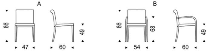 Diagrama silla Linda de Cattelan Italia