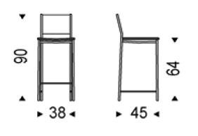 Diagrama taburete Alessio de Cattelan Italia
