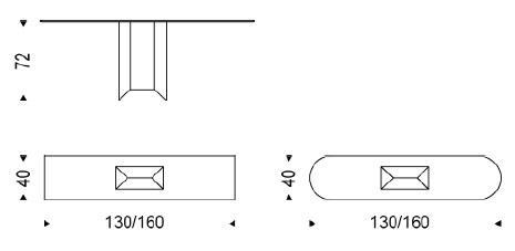 Diagrama de la consola de diseño Diapason de Cattelan Italia