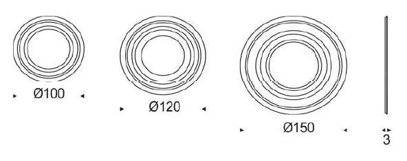 Diagrama de espejo de diseño Ring de Cattelan Italia