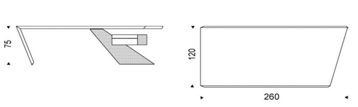 Diagrama escritorio Nasdaq de Cattelan Italia