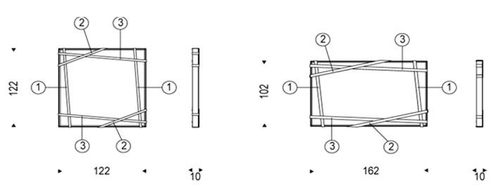 Diagrama espejo de diseño Rebus de Cattelan Italia