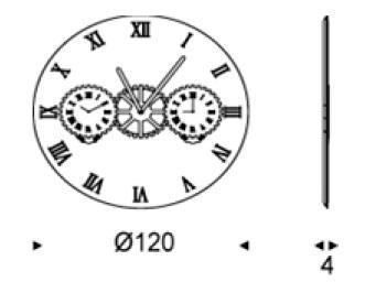 Diagrama espejo reloj Times de Cattelan Italia