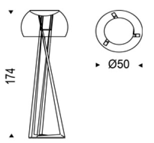 Diagrama lámpara Compass de Cattelan Italia