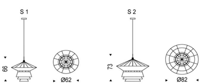 Diagrama lámpara de techo Bolero de Cattelan Italia