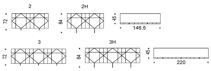 Medidas aparador de diseño Tropez Cattelan Italia