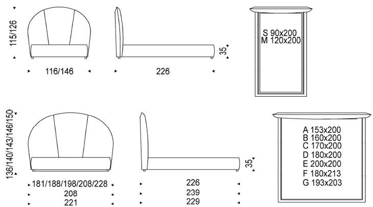 Medidas cama de diseño Bjorn