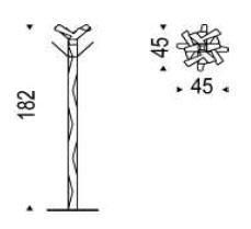 Medidas perchero de pie Baum Cattelan Italia