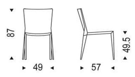 Medidas silla de comedor Beverly Cattelan Italia