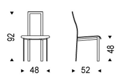 Medidas silla de comedor Lara Cattelan Italia