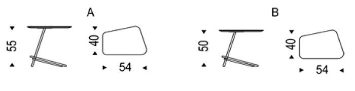 Diagrama mesa auxiliar Láser de Cattelan Italia