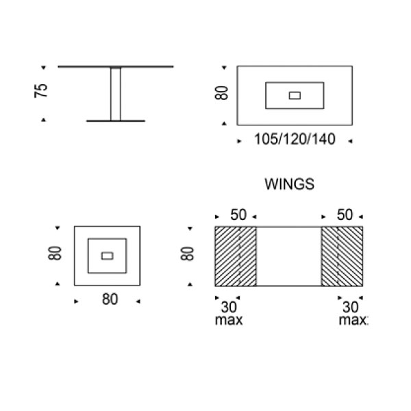 Dimensiones mesa comedor good with dimensiones mesa for Las medidas de una casa xavier fonseca pdf gratis