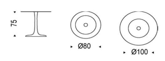 Diagrama mesa Hugo Bistrot de Cattelan Italia
