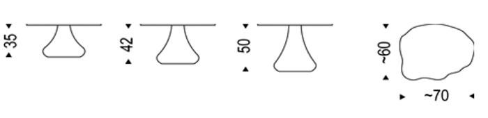 Diagrama de la mesa de centro Río de Cattelan Italia