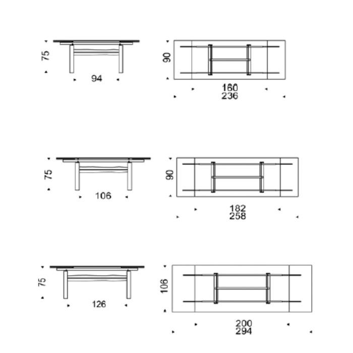 Mesa de comedor medidas cool mesa comedor nrdica oqui - Medidas mesa de comedor ...