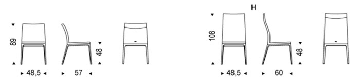 Diagrama silla de Arcadia de Cattelan Italia