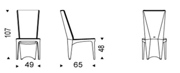 Diagrama silla de comedor Aurelia de Cattelan Italia