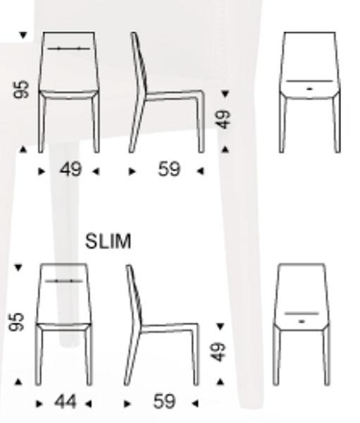 Diagrama silla de comedor Agatha Flex de Cattelan Italia