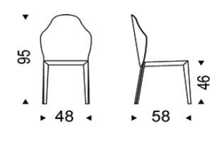 Diagrama de silla Ángel de Cattelan Italia