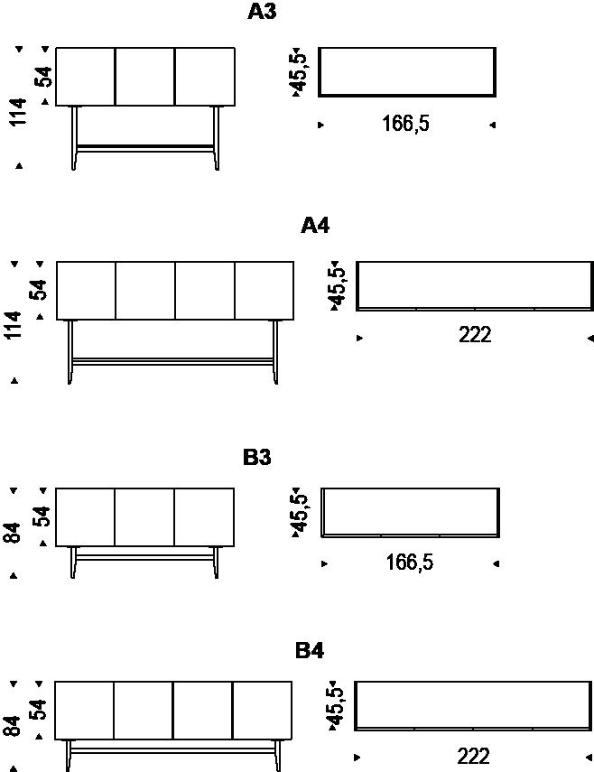 Medidas aparador Dakota