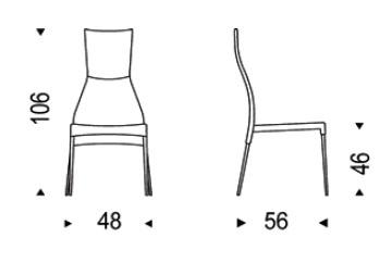 Diagrama de silla Carol de Cattelan Italia