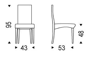 Diagrama de silla Cindy de Cattelan Italia
