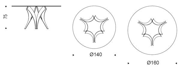 Diagrama de mesa Cortina de Cattelan Italia