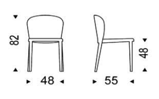 Diagrama de la silla Daisy Ecopiel